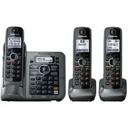 Panasonic KX-TG7643M Link-to-Cell Bluetooth Convergence Phone with 3 Handset at Sears.com