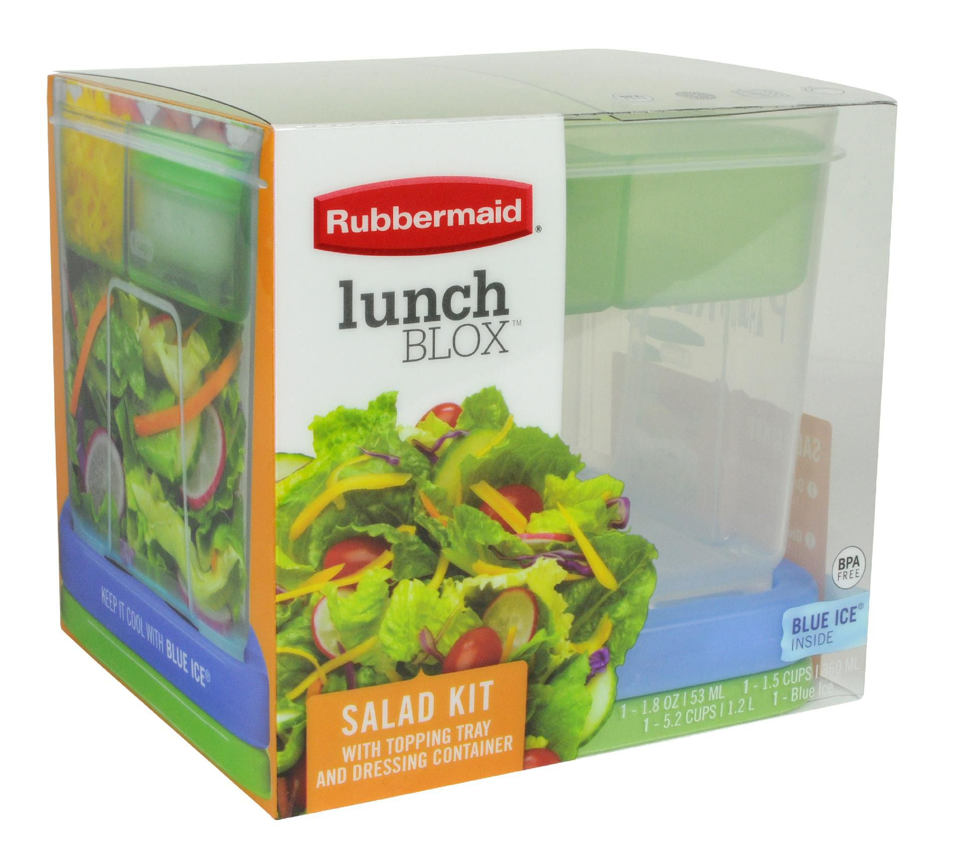 LUNCH BLOX SALAD SET RUBBERMAID