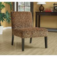 Monarch Specialties Leopard Fabric Accent Chair at Kmart.com