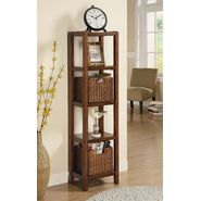 "Monarch Specialties Oak Veneer 55""H Etagere With Two Accent Baskets at Kmart.com"