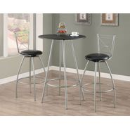 "Monarch Specialties Black / Silver Metal 30""Dia Bar Table at Kmart.com"