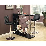 "Monarch Specialties Black Glossy / Chrome Metal 48""L Bar Table at Kmart.com"