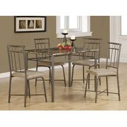 Monarch Specialties Cappuccino Marble / Bronze Metal 5pcs Dining Set at Sears.com