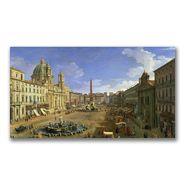 "Trademark Fine Art 18x32 inches Canatello ""View Of The Piazza Navona, Rome"" at Kmart.com"