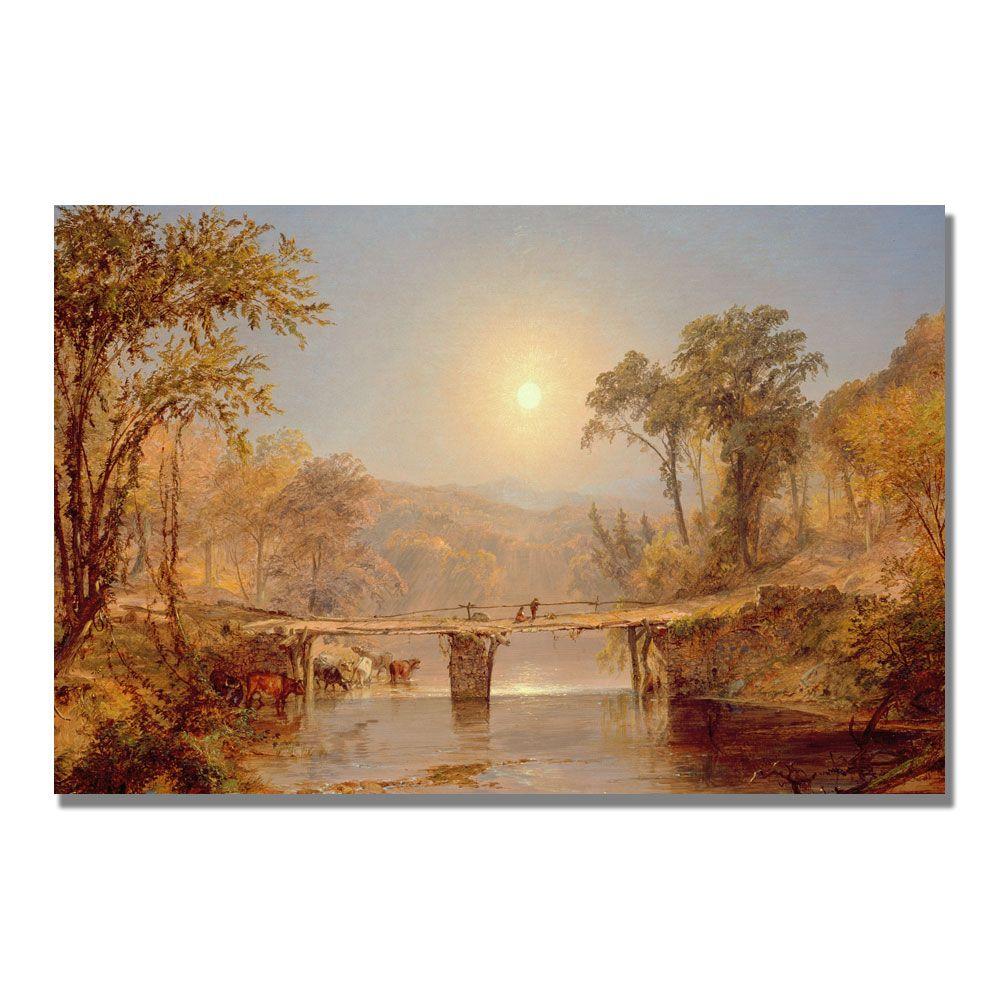 """Trademark Fine Art 30x47 inches Jasper Cropsey """"Indian Summer On The Delaware"""" PartNumber: 021V005145942000P KsnValue: 021V005145942000 MfgPartNumber: BL0817-C3047GG"""
