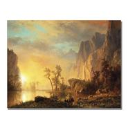 "Trademark Fine Art 35x47 inches Albert Biersdant ""Sunset In The Rockies"" at Kmart.com"