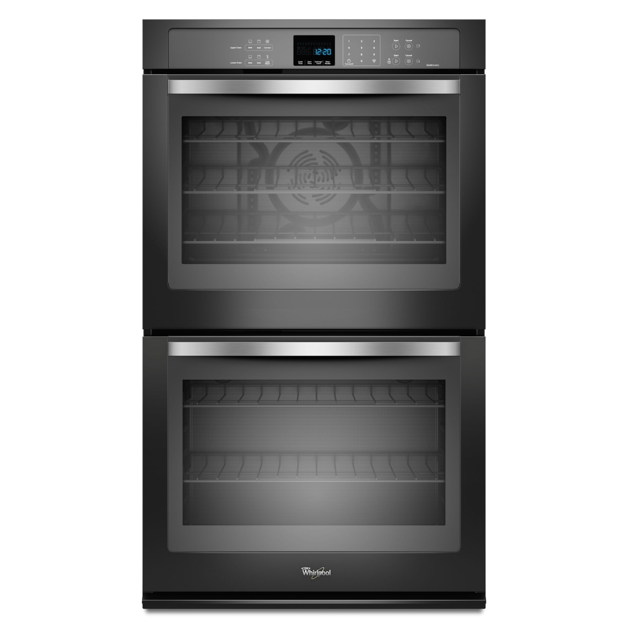 Whirlpool Gold Whirlpool WOD93EC0AE 30 Electric Double Wall Oven w/ TimeSavor  Ultra True Convection - Black Ice