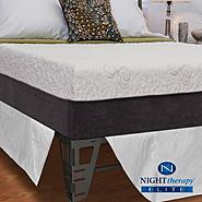 "Night Therapy 12"" NuRest® Better Than Latex™ Mattress & Bed Frame Set - Queen at Sears.com"