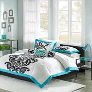 Mizone Santorini Teal Twin/TXL 3pcs Duvet Set at Kmart.com
