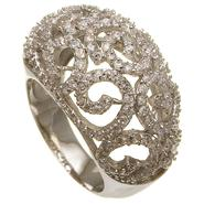 Sofia by Sofia Vergara Ladies Cubic Zirconia Filigree Dome Ring Size 8 Only at Kmart.com