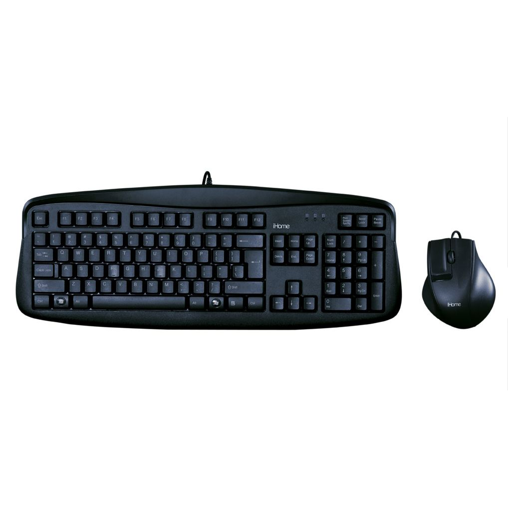 Corded Keyboard and Mouse- Black