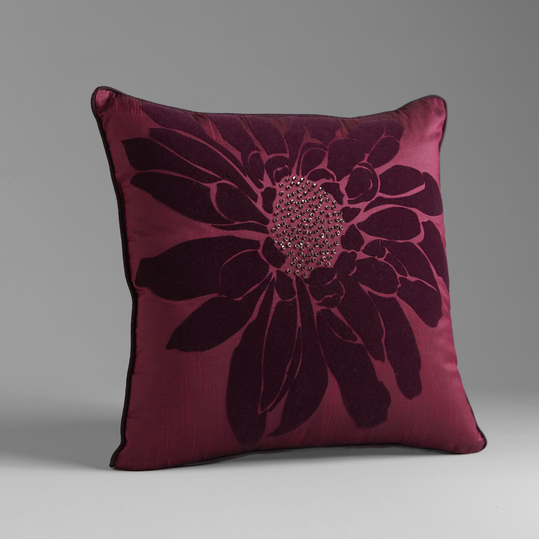 Floral Fantasy Decorative Pillow Pearl