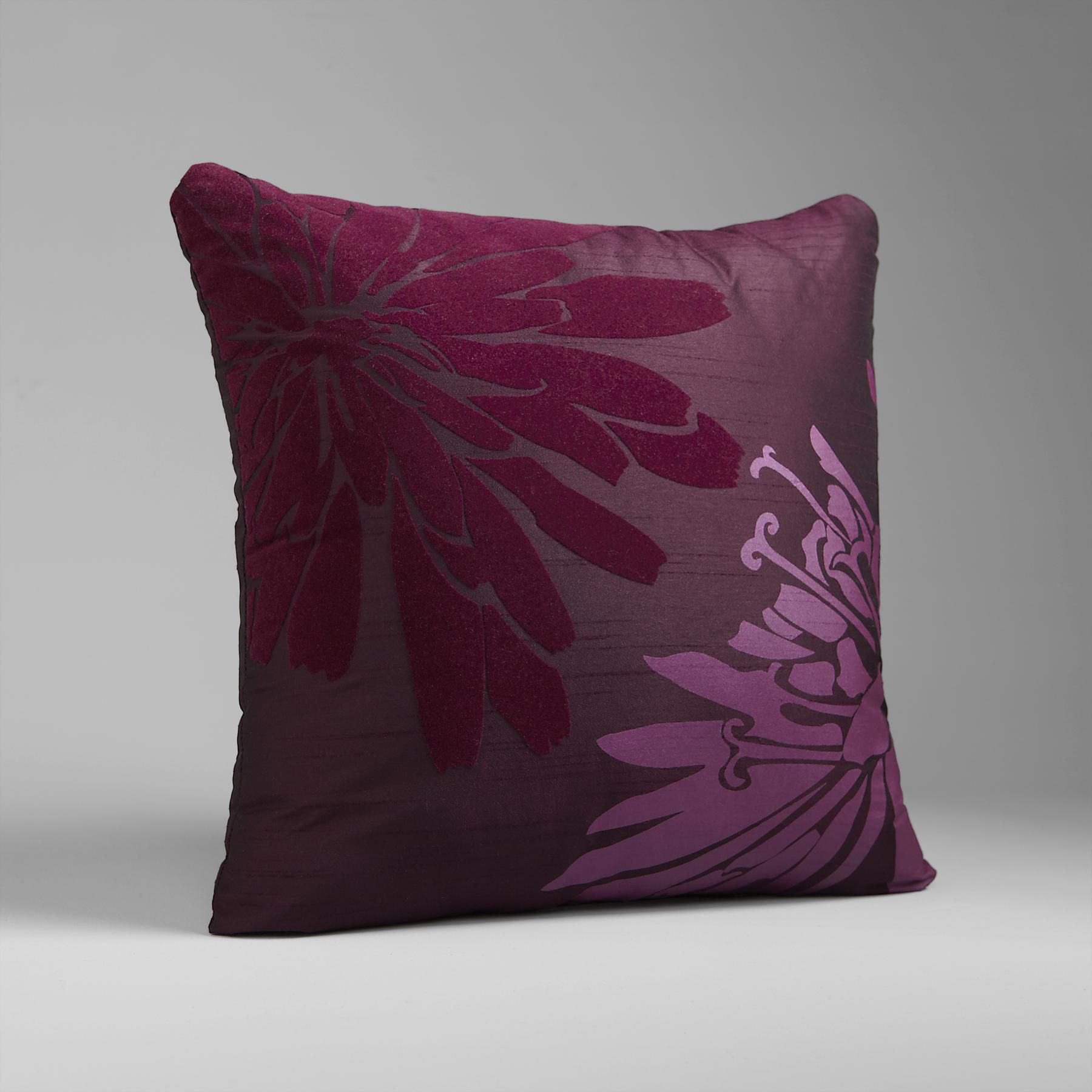 Floral Fantasy Decorative Pillow Flock