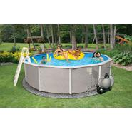"Swim Time Belize 27 ft Round 52"" Deep 6-in Top Rail Swimming Pool Package at Sears.com"