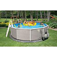 "Swim Time Belize 24 ft Round 48"" Deep 6-in Top Rail Swimming Pool Package at Sears.com"