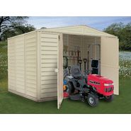 Duramax 10' x 8' vinyl fire retardant shed with a galvanized steel interior supporting structure at Sears.com