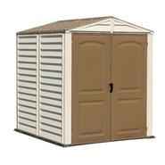 Duramax 6' x 6' vinyl fire retardant shed with a galvanized steel interior supporting structure at Kmart.com