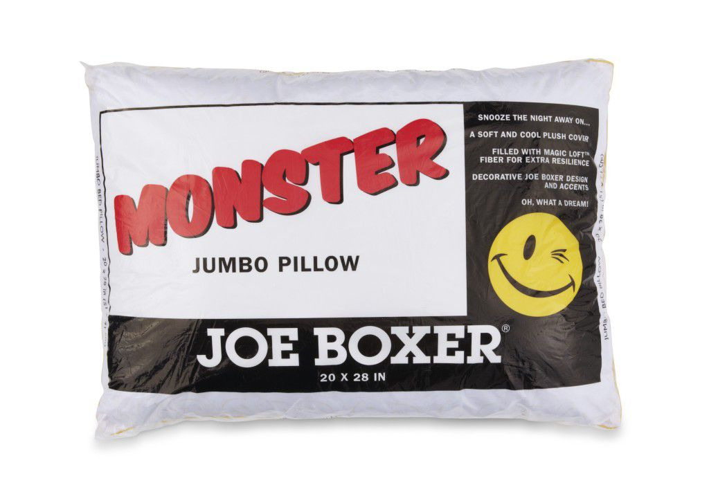 Monster jumbo overfilled std/qn pillow