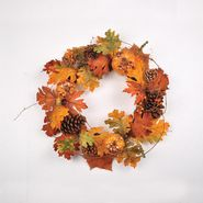 Be Thankful 22in Harvest Wreath with Pumpkin and Berries at Kmart.com