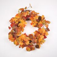 Be Thankful 22in Harvest Wreath with Leaves and Berries at Kmart.com