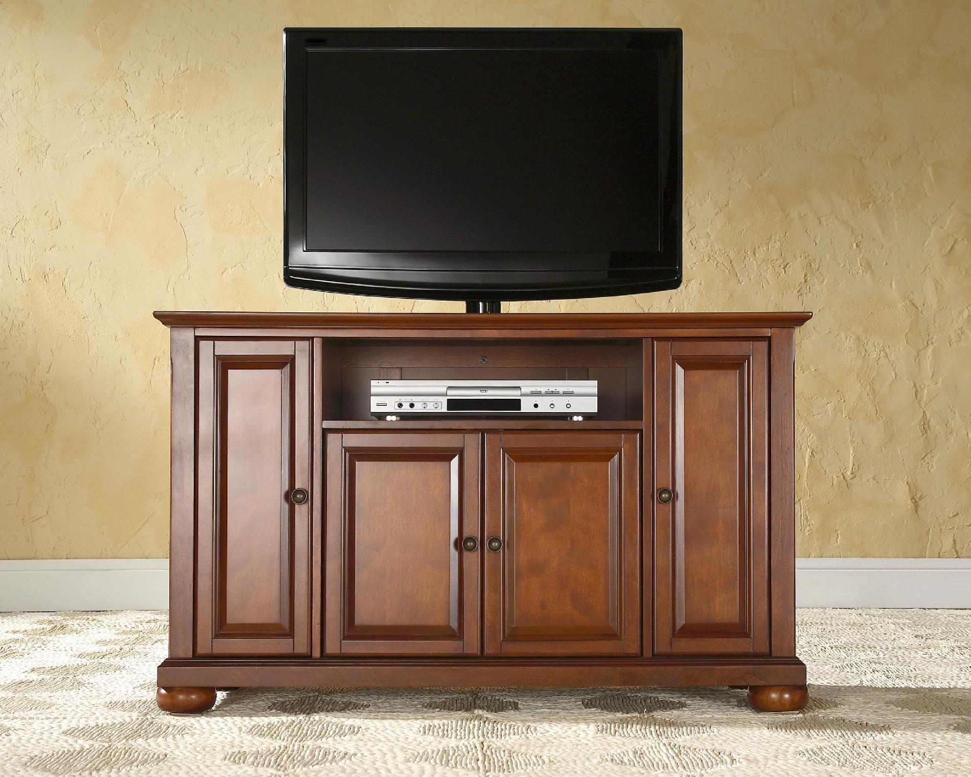 Crosley Furniture Alexandria 48in TV Stand in Classic Cherry