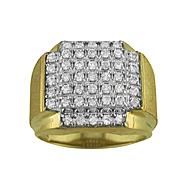 18K Gold Over Sterling Silver Cubic Zirconia Men's Ring at Kmart.com