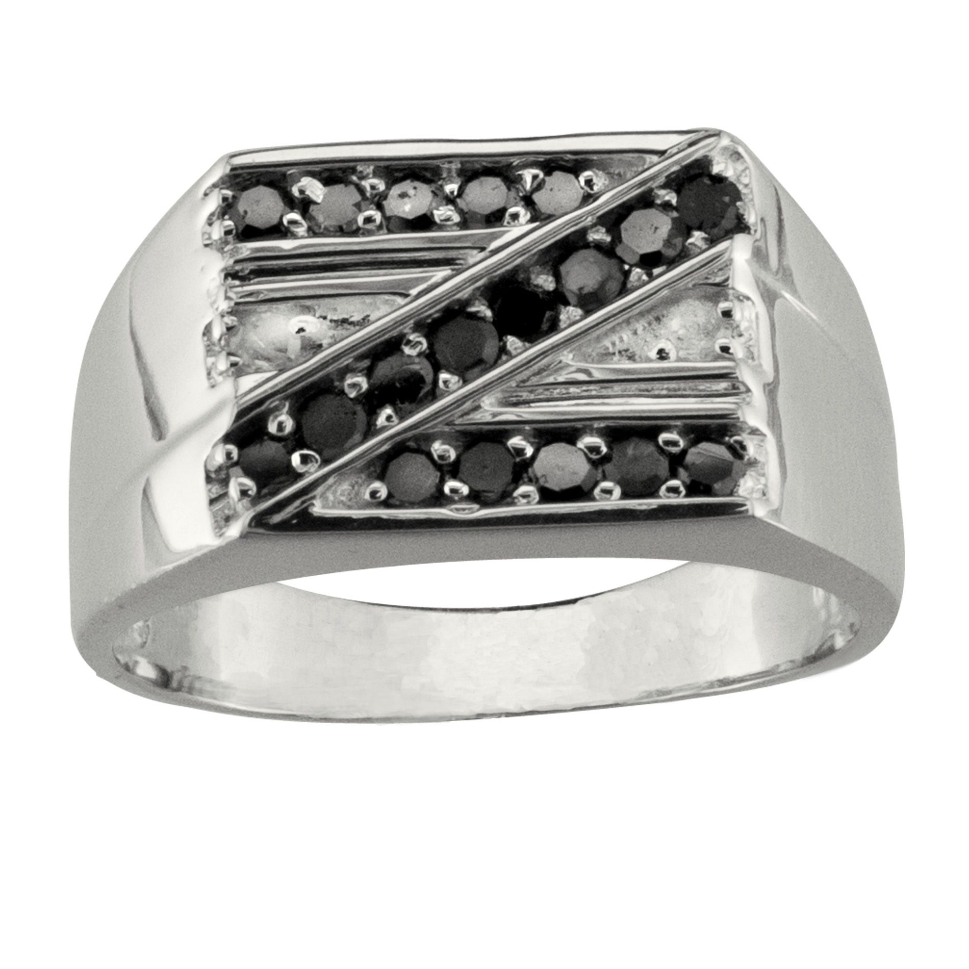 Sterling Silver 1/2 cttw Black & White