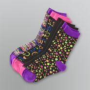 Joe Boxer Girl's Patterned Crew Socks - 4 Pairs at Sears.com