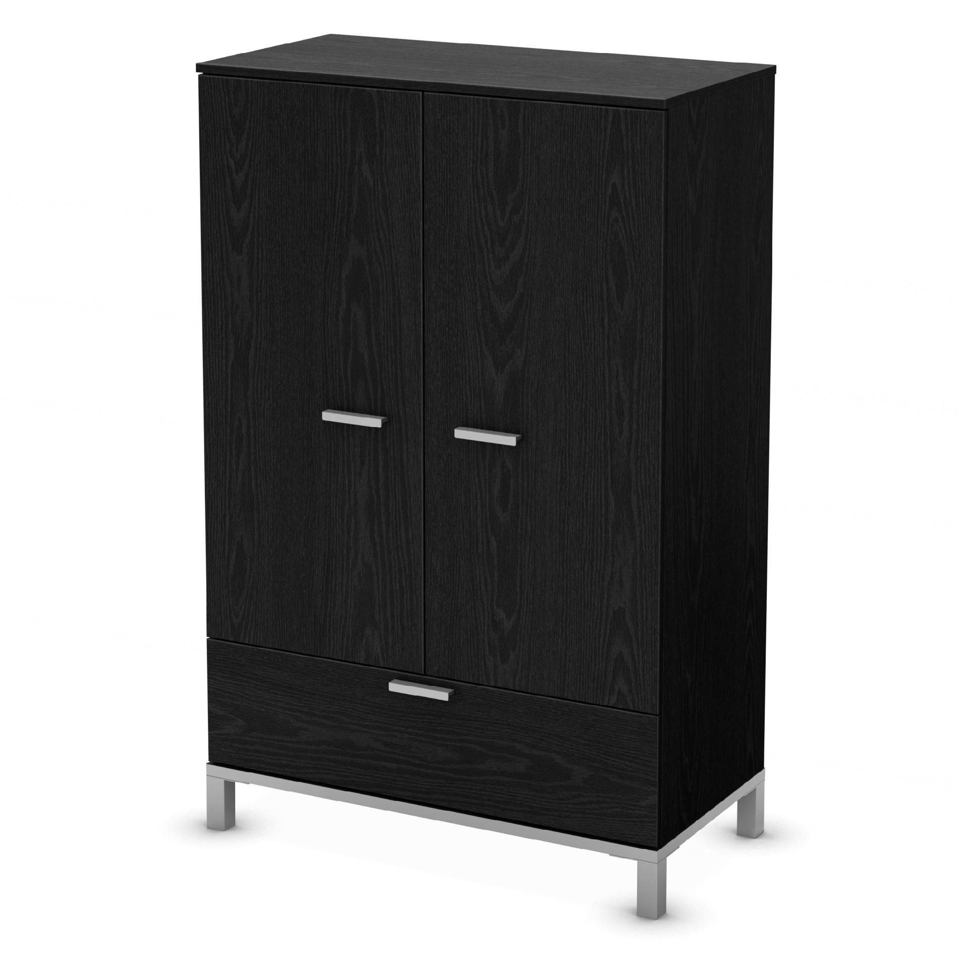 South Shore Flexible Collection Door Chest Black Oak