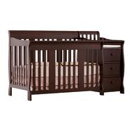 Stork Craft Portofino 4 in 1 Fixed Side Convertible Crib Changer - Espresso at Kmart.com