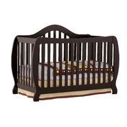 Stork Craft Monza I Fixed Side Convertible Crib - Black at Kmart.com