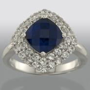 Sterling Silver and Lab Created Sapphire Ring at Sears.com