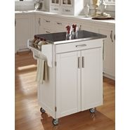 Home Styles Create-A-Cart Cuisine Cart - White Finish with Stainless Steel Top at Kmart.com