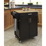 Home Styles Create-A-Cart Cuisine Cart - Black Finish with Wood Top at Sears.com