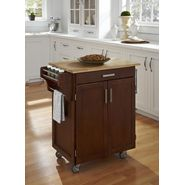 "Home Styles Create-A-Cart 35.5""H x 32.5""W x 18""D Medium Cherry Cabinet - Wood Top at Sears.com"