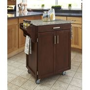 "Home Styles Create-A-Cart 35.5""H x 32.5""W x 18""D Medium Cherry Cabinet - Salt & Pepper Granite Top at Sears.com"