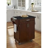 "Home Styles Create-A-Cart 35.5""H x 32.5""W x 18""D Medium Cherry Cabinet - Black Granite Top at Kmart.com"