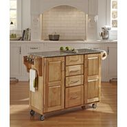 Home Styles Create-A-Cart Large Cart - Natural Finish with Salt & Pepper Granite Top at Kmart.com