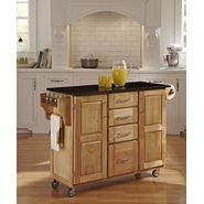 Home Styles Create-A-Cart Large Cart - Natural Finish with Black Granite Top at Kmart.com