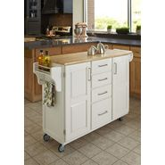 Home Styles Create-A-Cart Large Cart - White Finish with Wood Top at Kmart.com