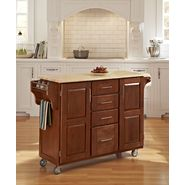 Home Styles Create-A-Cart Large Cart - Cottage Oak Finish with Wood Top at Kmart.com