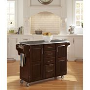 "Home Styles Create-A-Cart 35.75""H x 52""W x 18""D Medium Cherry Cabinet - Stainless Steel Top at Kmart.com"