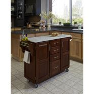 "Home Styles Create-A-Cart 35.75""H x 52""W x 18""D Medium Cherry Cabinet - Salt & Pepper Granite Top at Kmart.com"