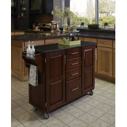 "Home Styles Create-A-Cart 35.75""H x 52""W x 18""D Medium Cherry Cabinet - Black Granite Top at Sears.com"