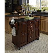 "Home Styles Create-A-Cart 35.75""H x 52""W x 18""D Medium Cherry Cabinet - Black Granite Top at Kmart.com"