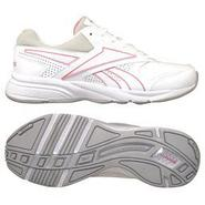 Reebok Womens Reetrace Walking Athletic Shoe - White/Pink at Sears.com