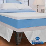 "Night Therapy 13"" MyGel® Prestige Memory Foam Mattress & Bed Frame Set-Queen at Sears.com"