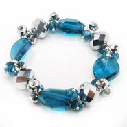 Studio Blue and Silver Glass Bead Bracelet at Sears.com