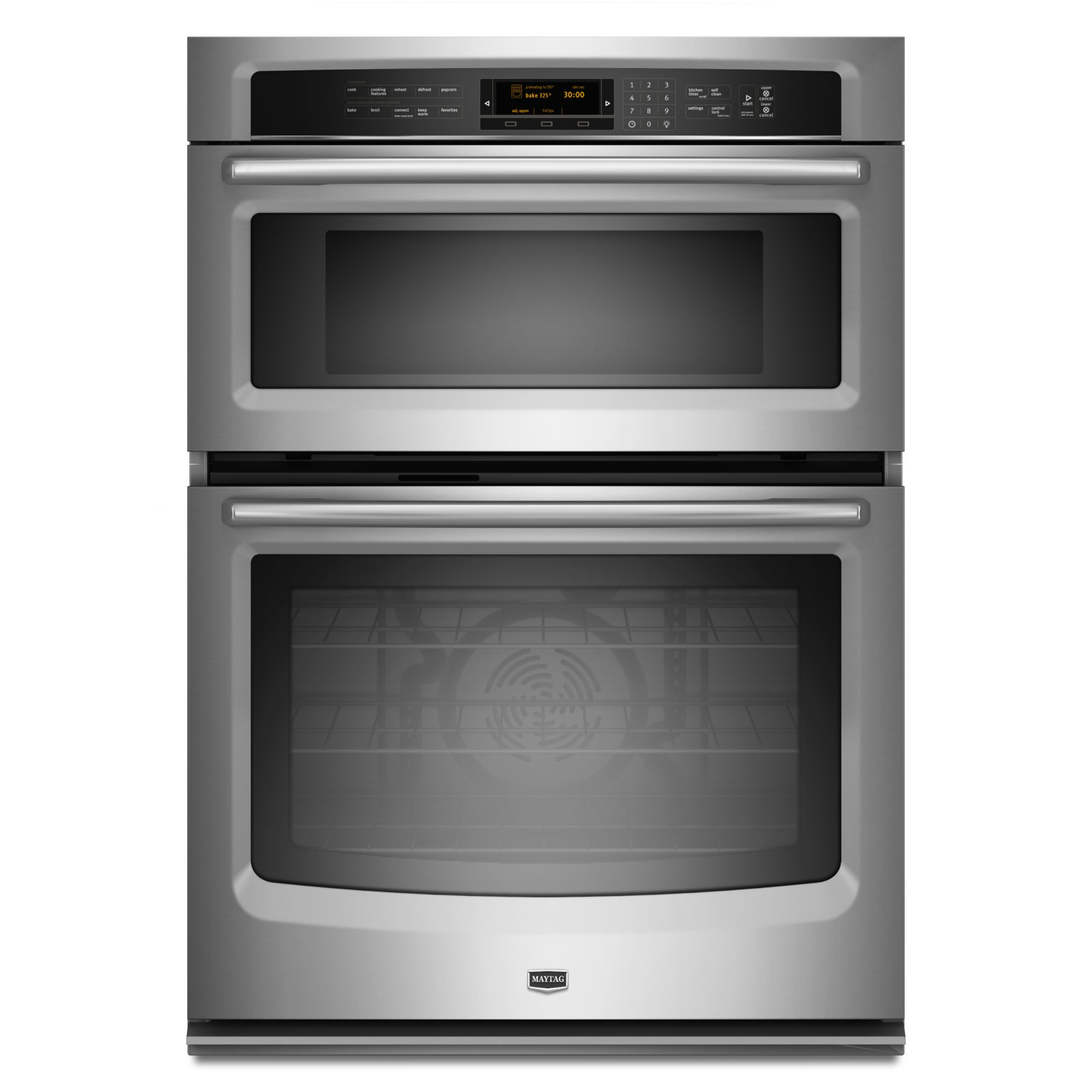Maytag 30 in. Electric Combination Wall Oven and Microwave-Stainless Steel