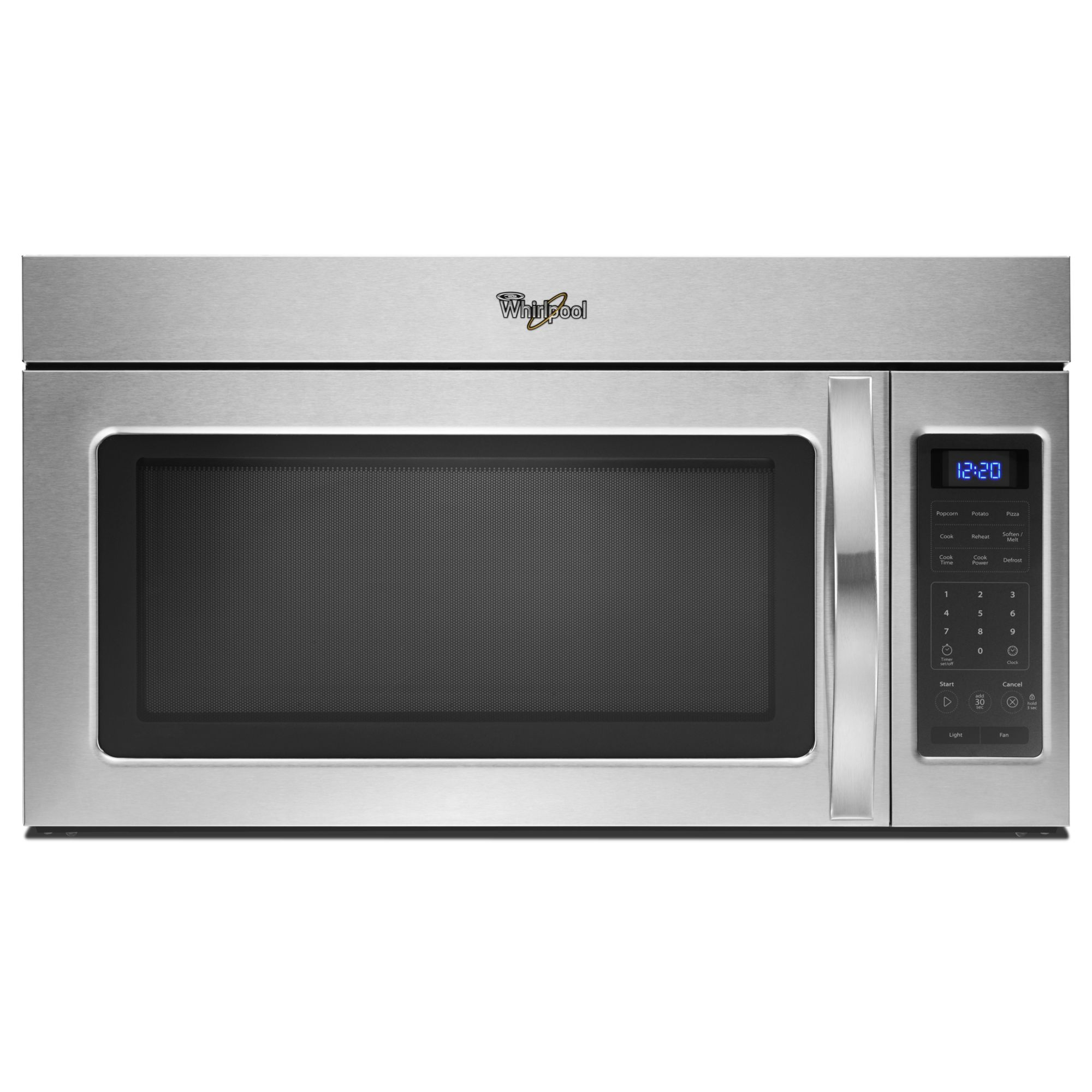 Whirlpool WMH31017AS 30 in. Over the Range Microwave w/ 2-Speed Fan - Stainless Steel